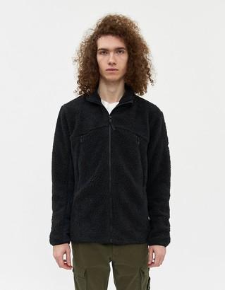 Hill City Men's High Pile Full Zip Jacket in Black, Size Small | Fleece