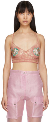 Supriya Lele Pink Hand Knitted Saree Bra Top