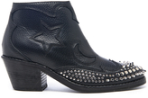 McQ by Alexander McQueen Women's Solstice Zip Leather Ankle Boots Black
