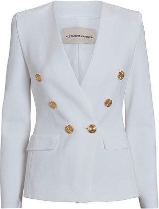 Alexandre Vauthier Double-Breasted Knit Blazer