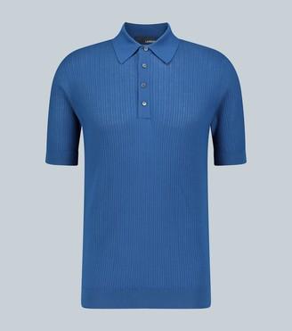 Lardini Ribbed knit cotton polo shirt