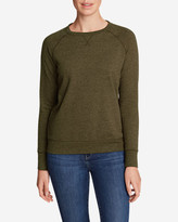 Eddie Bauer Women's Camp Fleece Long-Sleeve Crewneck Pullover