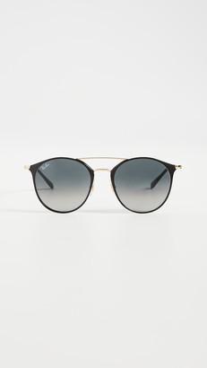 Ray-Ban RB3546 Round Aviator Sunglasses
