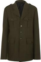 Haider Ackermann Officer Wool-felt Jacket - Army green