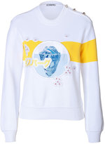 Iceberg Jersey Sweatshirt with Flowers