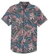 Ted Baker Clbtrop Trim Fit Tropical Woven Shirt