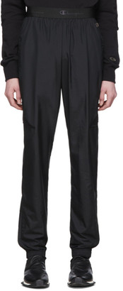 Rick Owens Black Champion Edition Light Nylon Track Pants
