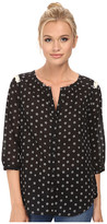 Maison Scotch Cute Printed Tunic Top w/ Fringes and Star Studs