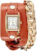La Mer Women's LMSCW4000 Malibu Gold Cantaloupe Wrap Watch