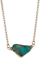 Leila Wire-Wrapped Turquoise Freeform Pendant Necklace