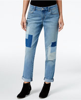 Style&Co. Style & Co. Petite Curvy-Fit Patchwork Disco Wash Boyfriend Jeans, Only at Macy's