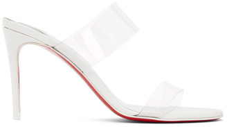 Christian Louboutin White Just Nothing 85 Heeled Sandals