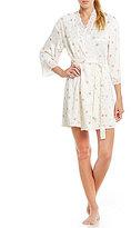 Lauren Ralph Lauren Signature Lace-Trimmed Floral Satin Wrap Robe