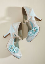 Ruby Shoo Charming Capers Mary Jane Heel in Bridal Blue in 37