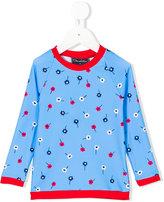 Oscar De La Renta Kids - floral print top - kids - Polyester/Spandex/Elastane - 2 yrs