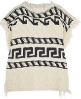 Etoile Isabel Marant Texas intarsia-knit poncho