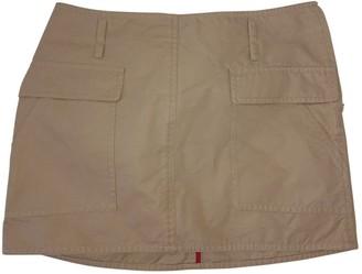 Celine Beige Cotton Skirt for Women