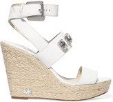 MICHAEL Michael Kors Lynn crystal-embellished leather sandals