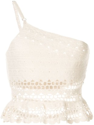 SUBOO Stella one shoulder crochet top
