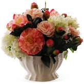Winward Silks 14'' Camellia & Snowball in Vase - Faux