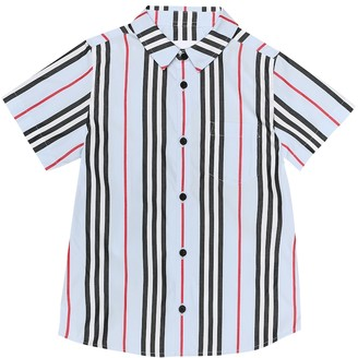 BURBERRY KIDS Frederick Icon Stripe cotton shirt