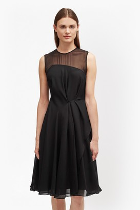 French Connection Winter Ray Flared Chiffon Skater Dress