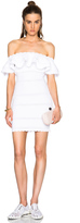 Alexander McQueen Off Shoulder Mini Dress
