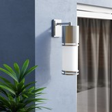 Bronx Feder 1-Light Outdoor Sconce Ivy Finish: Brushed Aluminum