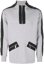 Blood Brother Stamp zipped sweater