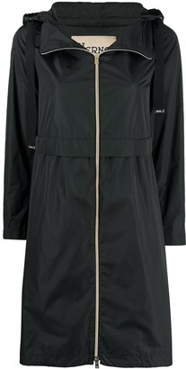 Herno Drawstring Hood Raincoat