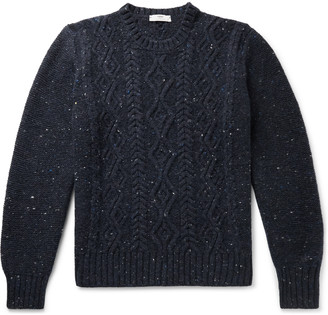 Inis Meáin Cable-Knit Donegal Merino Wool And Cashmere-Blend Sweater