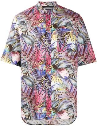 White Mountaineering Botanical-print short-sleeved shirt