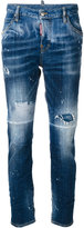 DSQUARED2 distressed Cool Girl jeans - women - Cotton/Spandex/Elastane - 38
