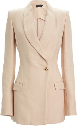 Brandon Maxwell Tailored Shawl Collar Blazer