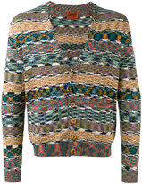 Missoni striped v-neck cardigan - men - Cotton - S