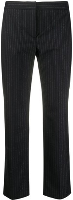 Alexander McQueen Pinstripe Print Cropped Trousers