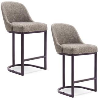 "Ivy Bronx Hambleton Bar & Counter Stool Seat Height: Bar Stool (31"" Seat Height), Color: Espresso, Upholstery: Espresso"
