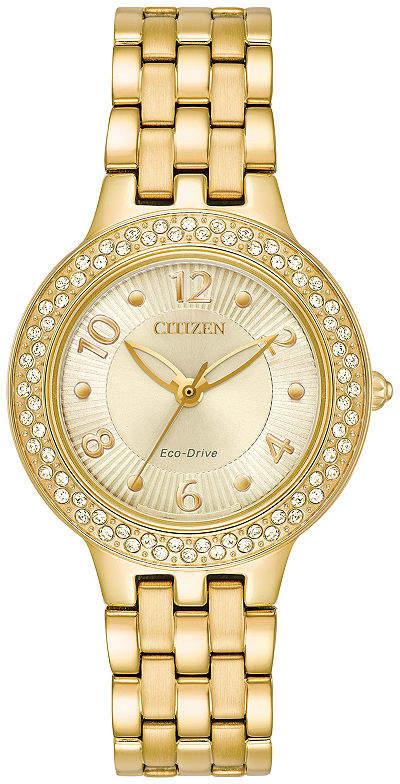 Citizen Womens Gold Tone Strap Watch-Fe2082-51p