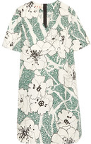 Marni Floral-print Cotton Dress - Green