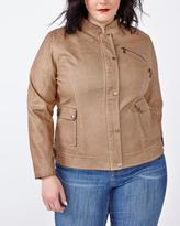 Penningtons Long Sleeve Faux-Leather Jacket