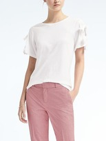 Banana Republic Bow-Sleeve Couture Tee