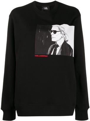 Karl Lagerfeld Paris Legend crew-neck sweatshirt