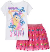 Disney Pixar Inside Out Joy Girls 4-6x Tee & Skirt Set