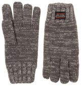 Superdry New Mens Grey Super Twist Cable Cotton/Acrylic Gloves
