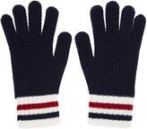 Moncler Gamme Bleu Navy Wool Gloves
