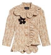 Simone Rocha Embellished Scallop Frill Jacket