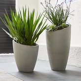 Crate & Barrel Slant Light GreyPlanters