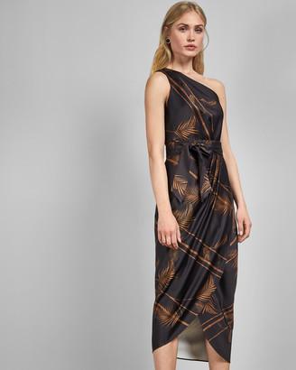 Ted Baker One Shoulder Midi Dress