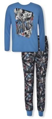 Sleep On It Boys Long Sleeve & Jogger 2-Piece Pajama Set Sizes 6-14
