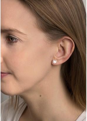 Sterling Silver Cat face stud earrings